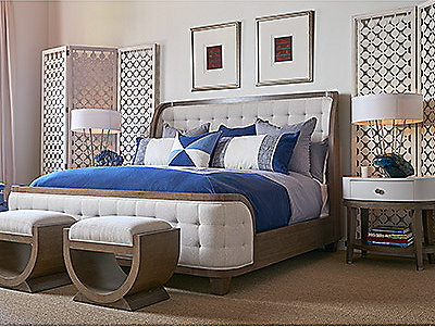 Thomasville Furniture Classic Wood Upholstered Furniture - Bedroom furniture stores san francisco